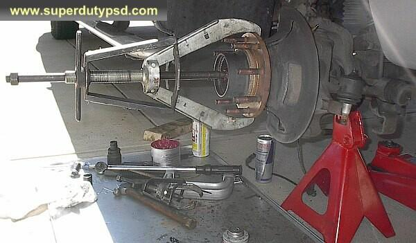 Ford F250 pull wheel bearing puller