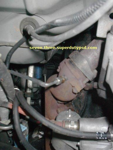 egt thermocouple, probe installed on exhaust manifold