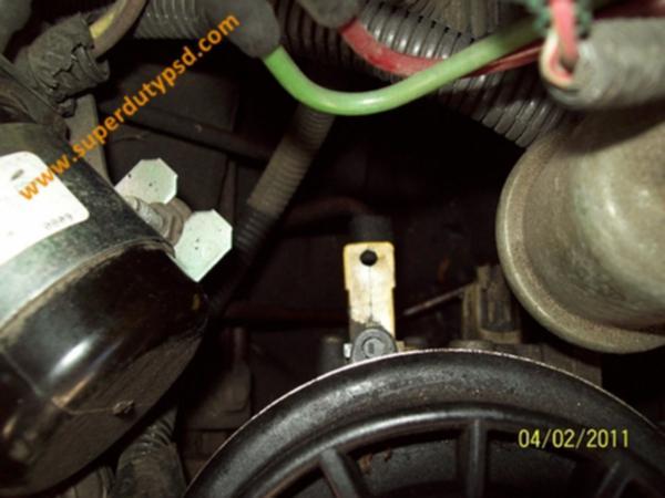 Fuel drain lever.