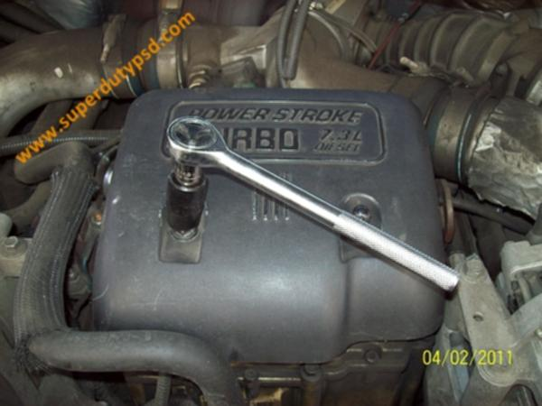 Power Stroke fuel filter housing cover.