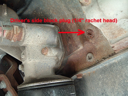 driver's side block plug