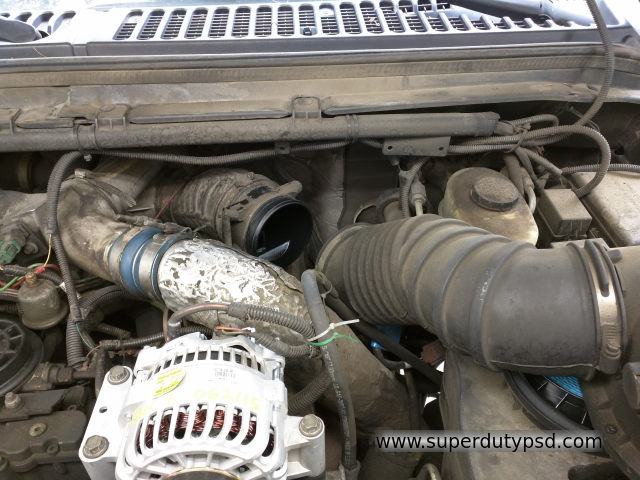 air cleaner tibing Ford F250 F350