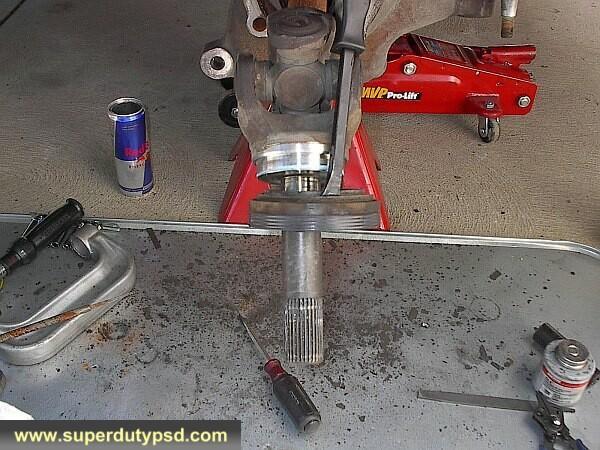remove axle seal