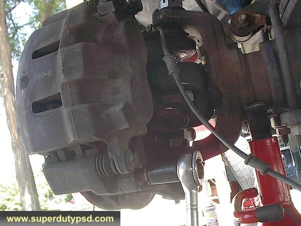 Ford F250 caliper mount at knuckle