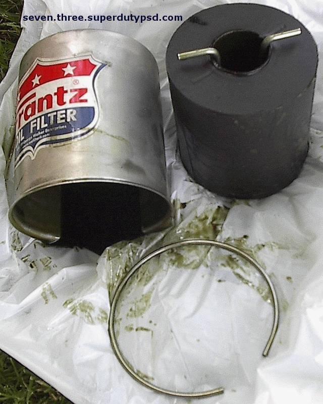 Frantz Oil Filter Used Element