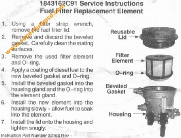 Fuel filter instructions.