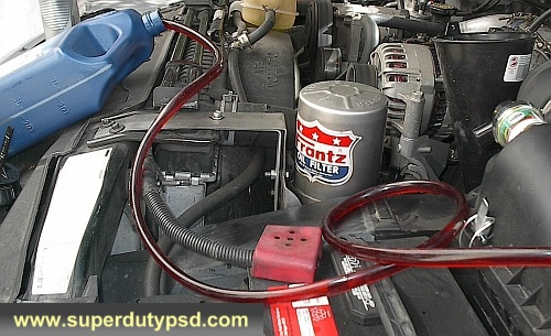 power steering flush hose and container